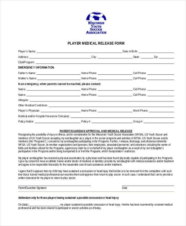 8+ Medical Release Form Samples - Free Sample, Example Format Download