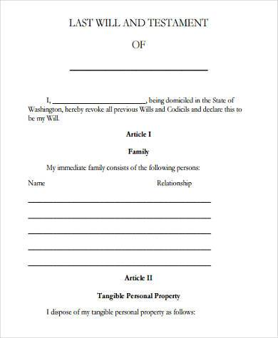 Simple Will Form Printable Sample Letter Of Resignation Form - simple will form