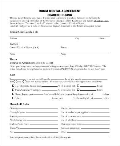 Printable Agreement Forms - 23+ Free Documents in Word, PDF - printable rental agreements