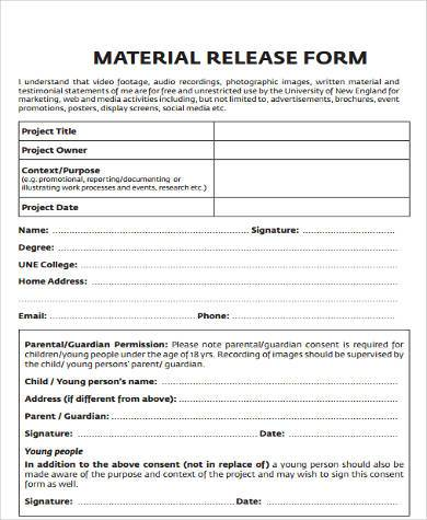Sample Construction Release Forms - 8+ Free Documents in Word, PDF - Release Forms