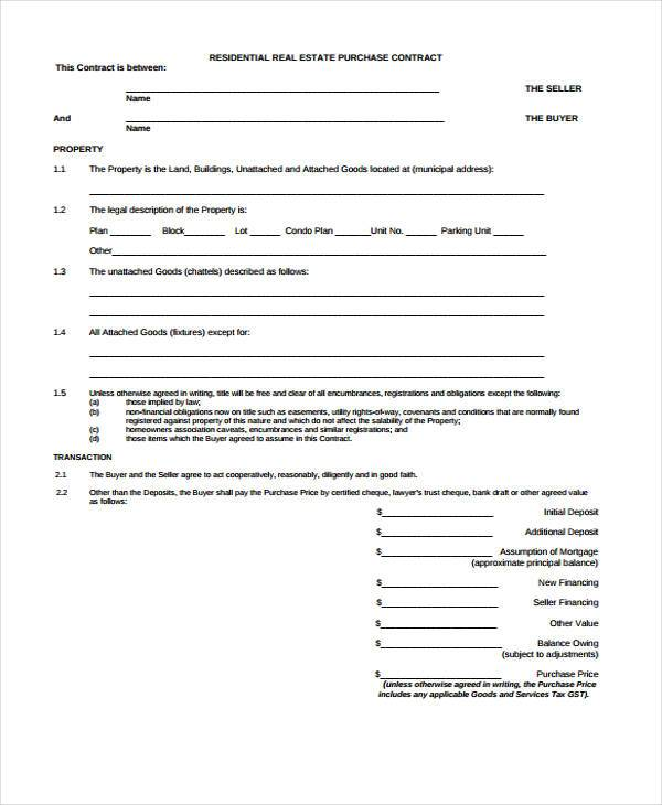 7+ Purchase Contract Form Samples - Free Sample, Example Format - purchase order contract template