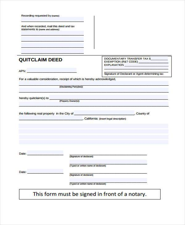8+ Deed Release Form Samples - Free Sample, Example Format Download - quick deed form