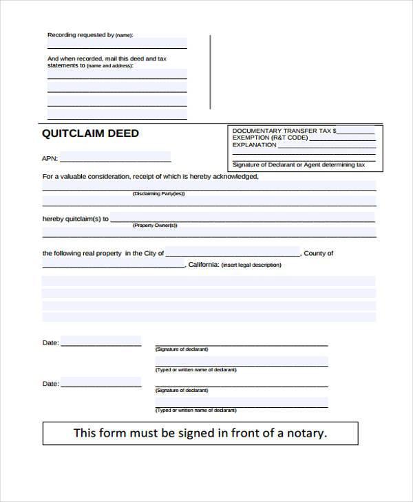 Quick Claim Deed Plainresume Co