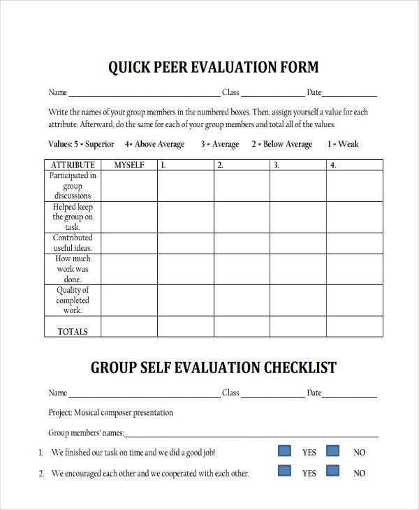 Sample Evaluation Sample Intern Performance Appraisal Job - class evaluation template