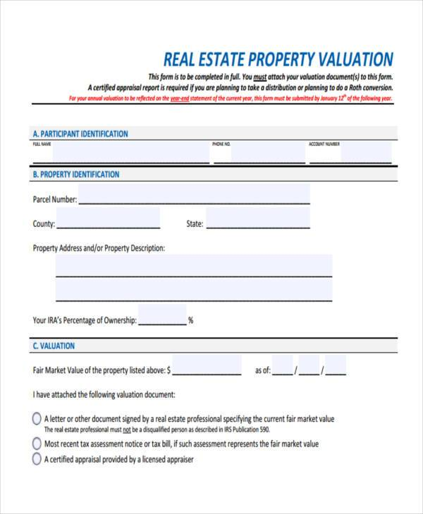 Sample Property Evaluation Forms   7+ Free Documents In Word, PDF   Sample  Property