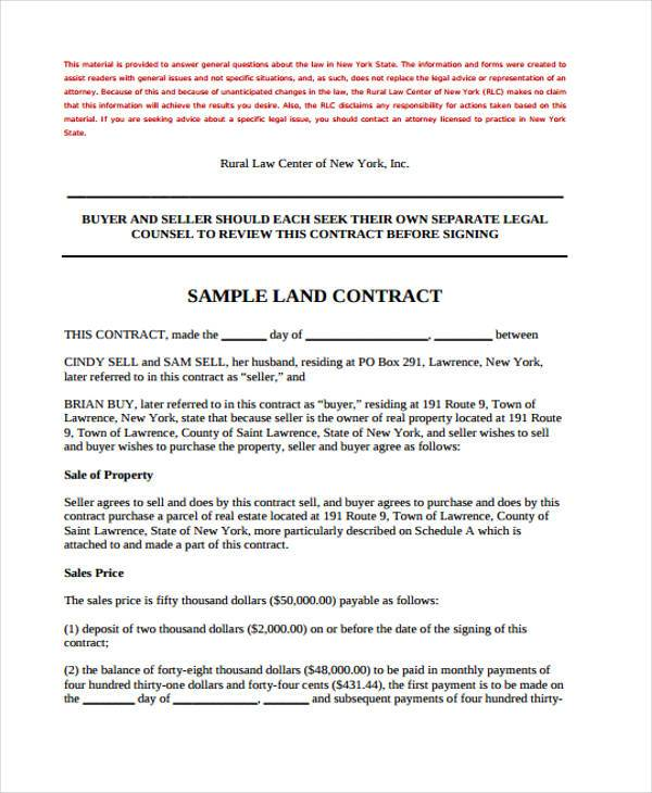 Land lease agreement form free turningtogodswordus – Land Contract Agreement