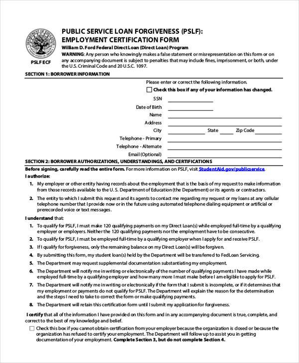 Sample Employment Certification Forms - 7+ Free Documents in Word, PDF