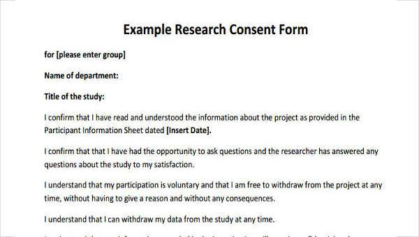 7+ Research Consent Form Samples - Free Sample, Example Format Download