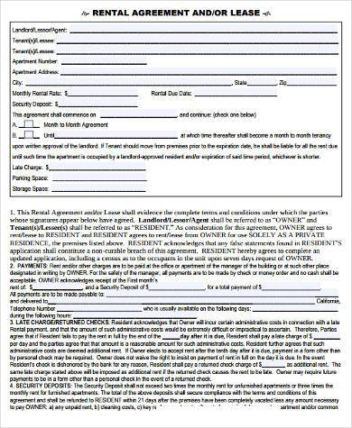 House Rental Contract Samples - 9+ Free Documents in Word, PDF - apartment rental contract sample