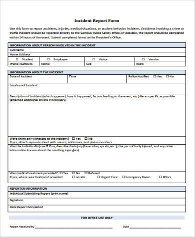 Sample Safety Report Forms - 9+ Free Documents in Word, PDF - safety report sample