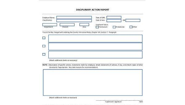 Sample Action Report Forms - 8+ Free Documents in Word, PDF