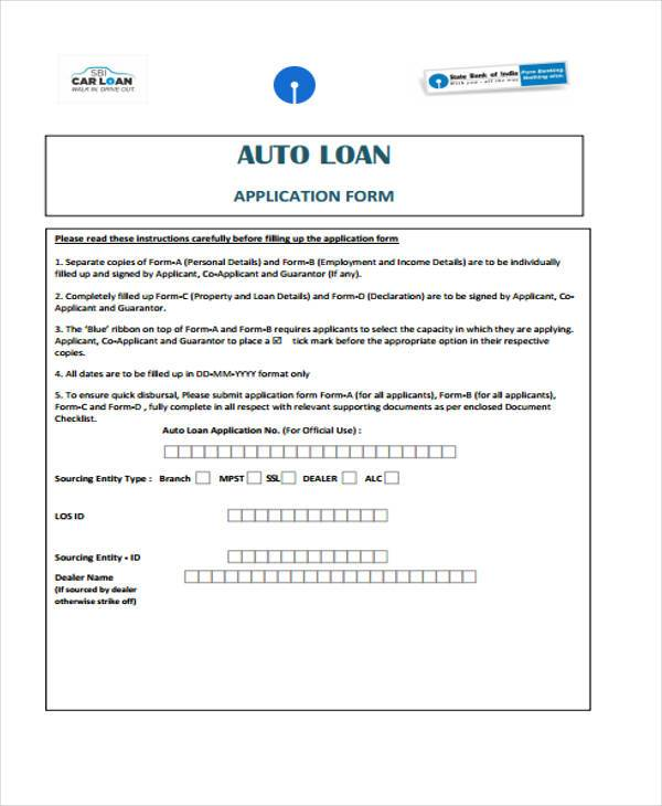 7+ Loan Contract Form Samples - Free Sample, Example Format Download - Auto Contract Template