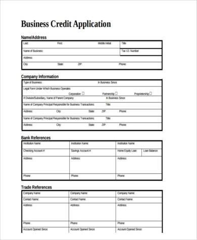 8+ Business Application Form Samples - Free Sample, Example Format