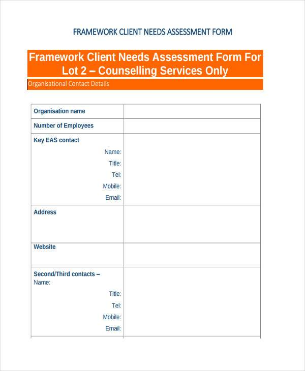 7+ Client Assessment Form Samples - Free Sample, Example Format Download