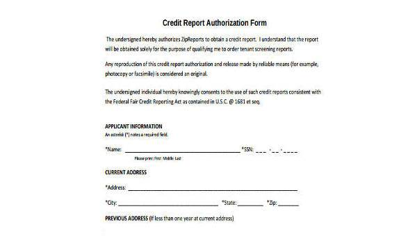 Sample Credit Report Forms - 9+ Free Documents in Word, PDF
