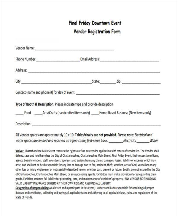 vendor application form – Vendor Registration Form