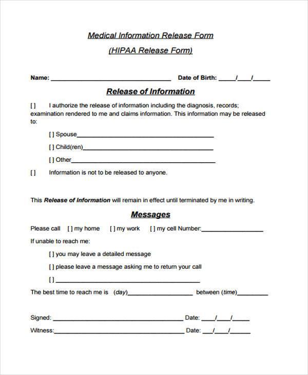 hipaa release form | lukex.co