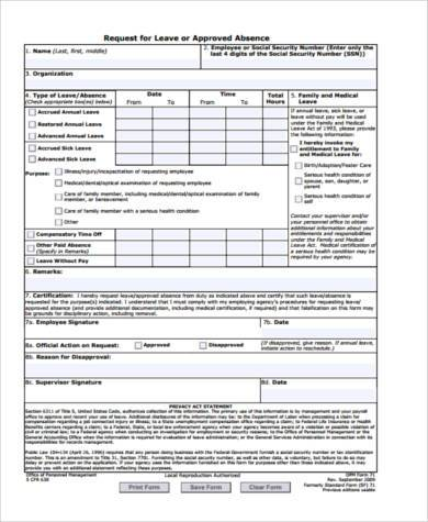 Inspirational Sample Leave Request form Request form In Excel