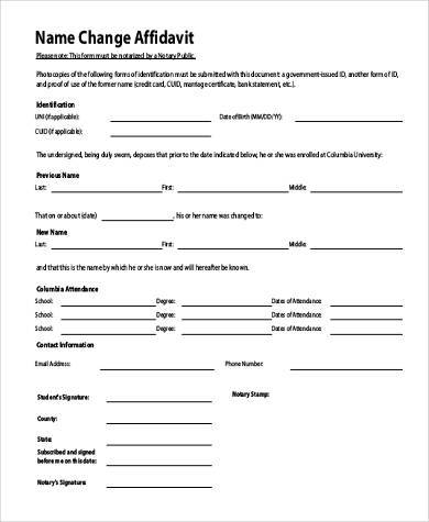 21+ Affidavit Form Examples - Free Sample, Example Format Download