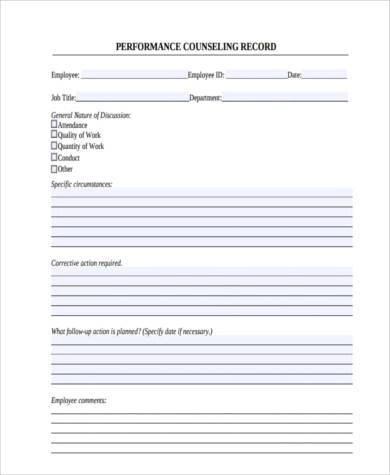 Sample Counseling Forms - 9+ Free Documents in Word, PDF