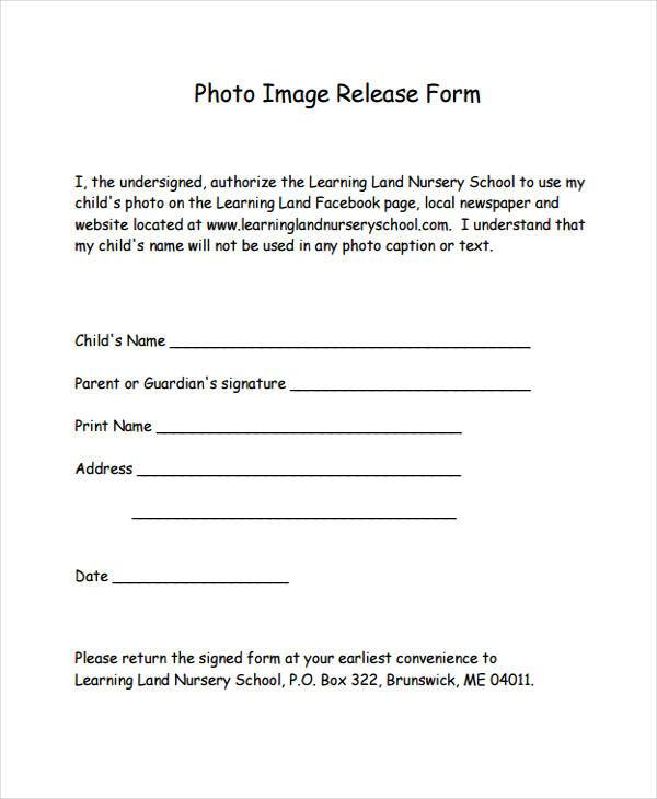8+ Image Release Form Samples - Free Sample, Example Format Download - Photographer Release Forms
