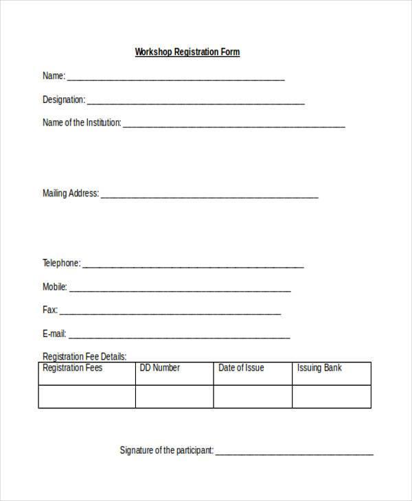 Registration Forms Link To Alien Registration Form Image Sample - enrollment form format