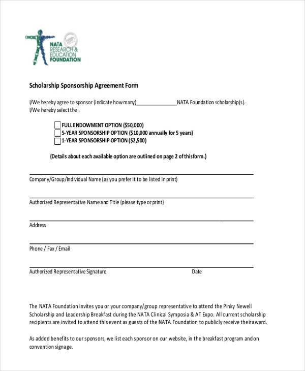 Scholarship Contract Templates Best Solutions Of Sample Character