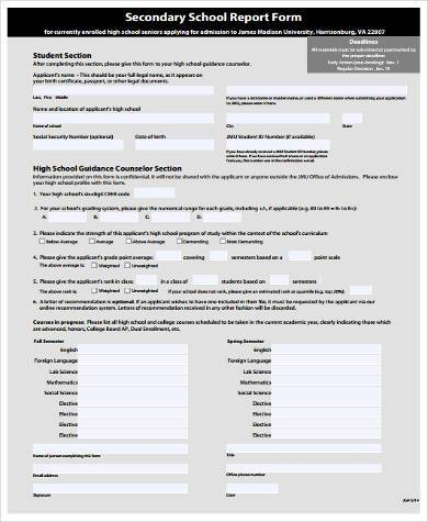 Sample School Report Forms - 9+ Free Documents in Word, PDF - sample school report