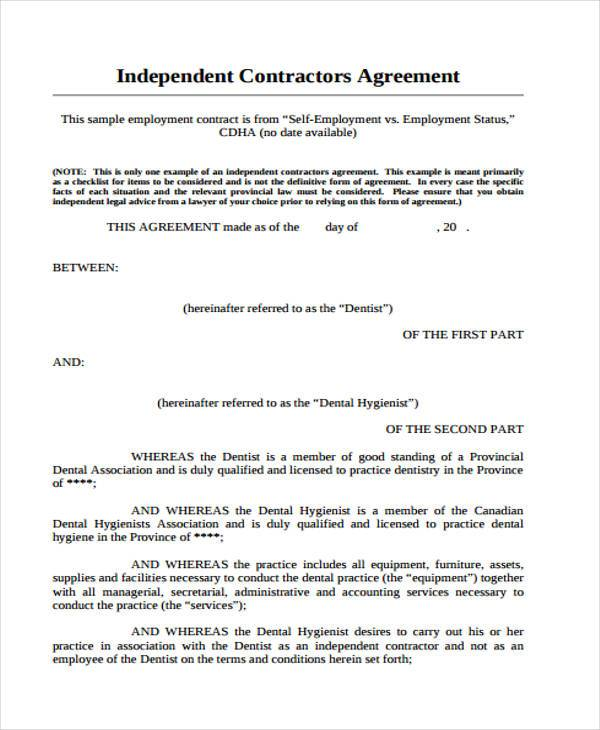 when is an employment contract necessary freelance contract