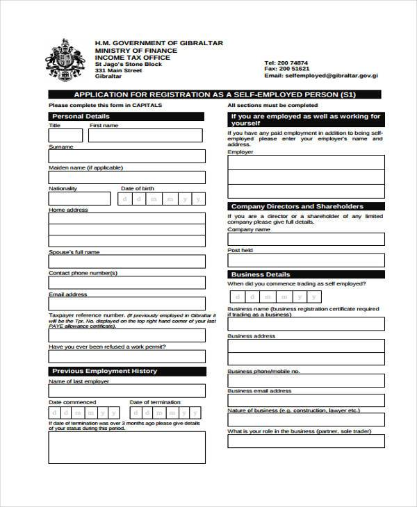 Employment Form Templates - company forms templates