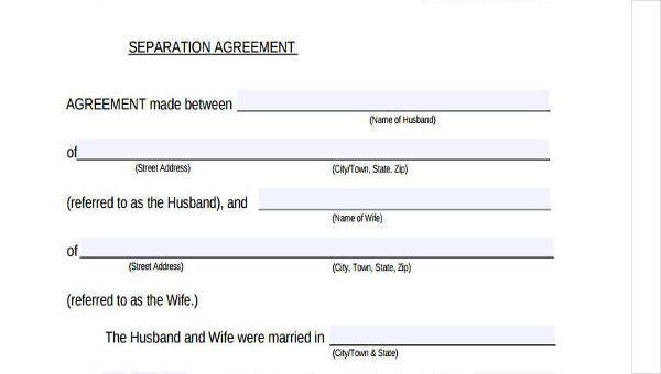 7+ Separation Agreement Form Samples - Free Sample, Example Format