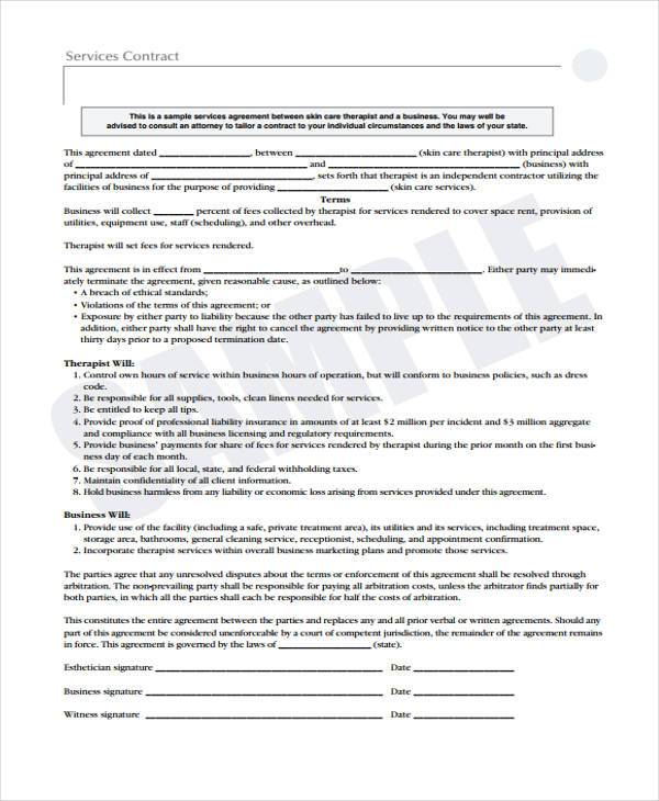 Sample Service Contract Agreement Forms - 6+ Free Documents in Word, PDF - service contract