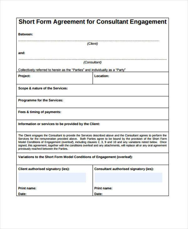 Consulting Agreement Form Samples - 7+ Free Sample, Example Format - consulting agreement examples