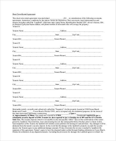 Sample Rental Agreement Forms - 23+ Free Documents In Word - sample equipment rental agreement