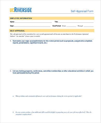 Attractive Simple Appraisal Forms   22+ Free Documents In Word, PDF #74   Annual
