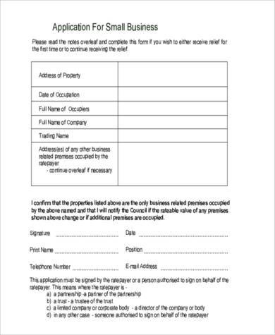 Business Application Form oakandale - business application form