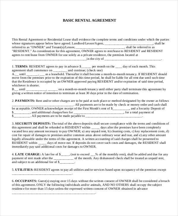 7+ Commercial Rental Agreement Form Samples - Free Sample, Example - sample commercial rental agreement