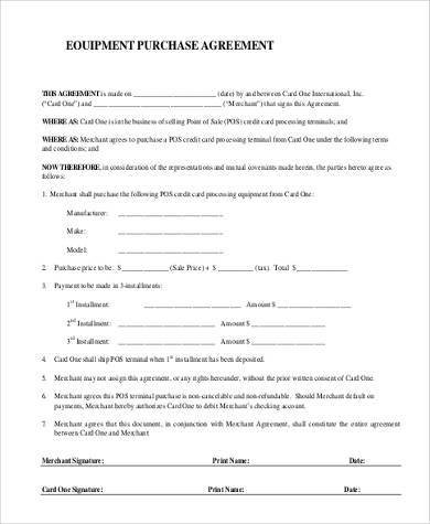 Sample Equipment Rental Agreement Template - 8+ Free Documents - sample equipment rental agreement