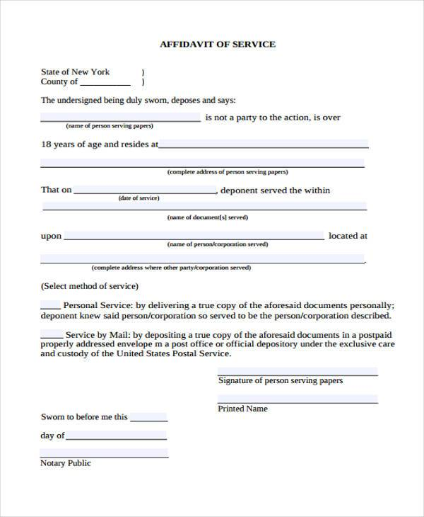 simple affidavit form - 28 images - very simple affidavit form