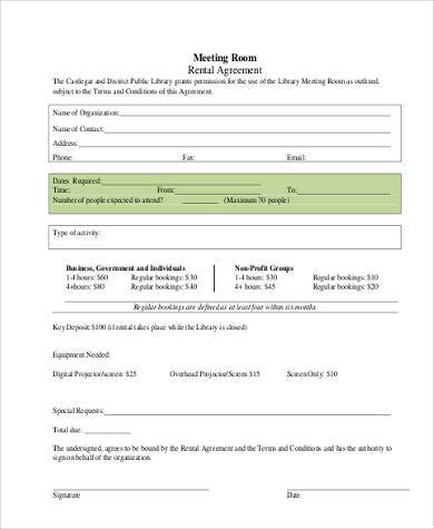 Room Rental Agreement Form Bc | Create Professional Resumes Online