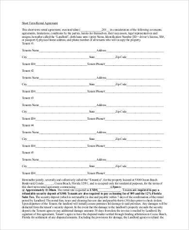 Simple Agreement Forms - 31+ Free Documents In Word, PdfShort Term - simple contract template