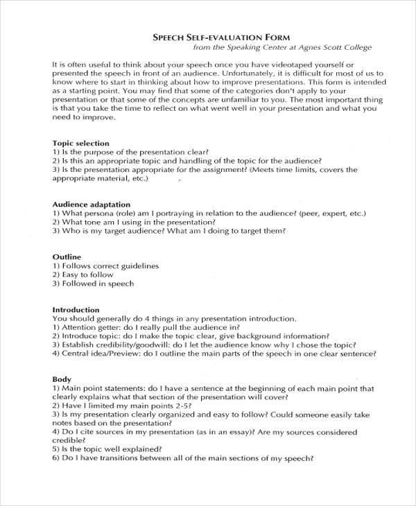 Informative speech self evaluation Research paper Help