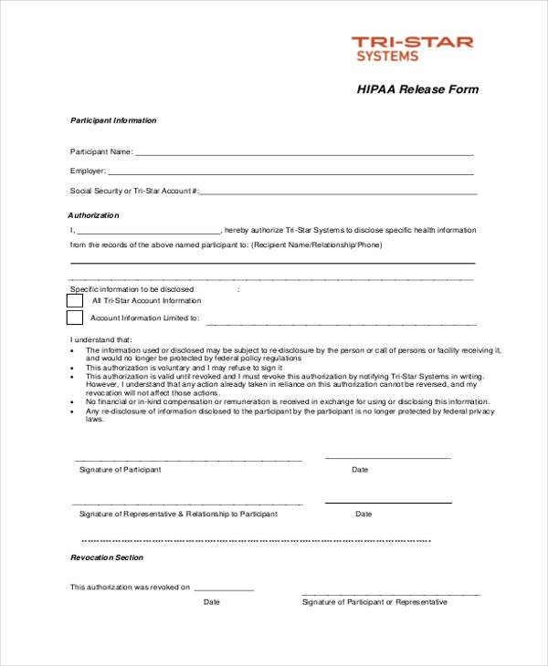 hipaa release form spintel - generic photo release form