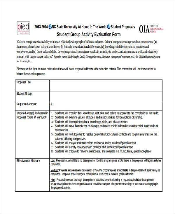 Event Evaluation Form Samples - 9+ Free Documents In Word - sample student evaluation forms