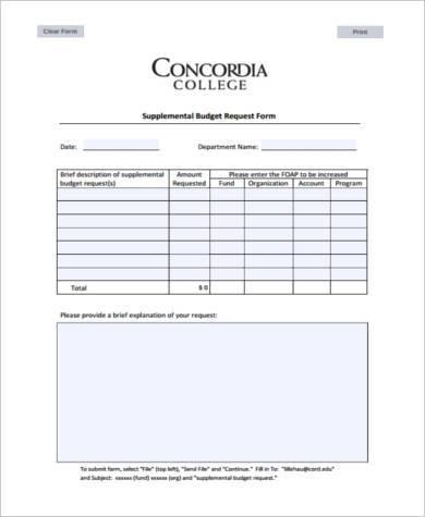 budget request form - Peopledavidjoel