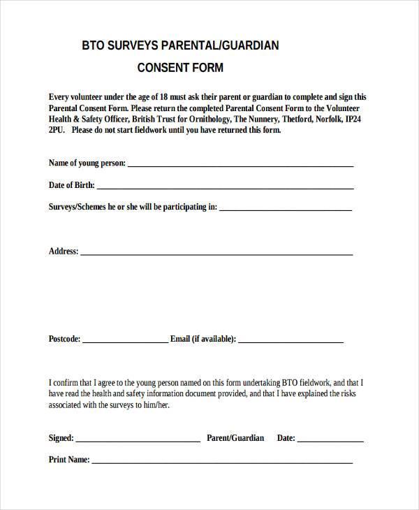 parental permission letters