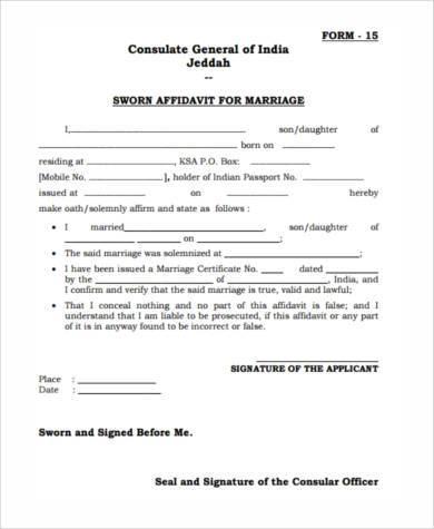 7+ Sworn Affidavit Form Samples - Free Sample, Example Format Download - sworn statement templates