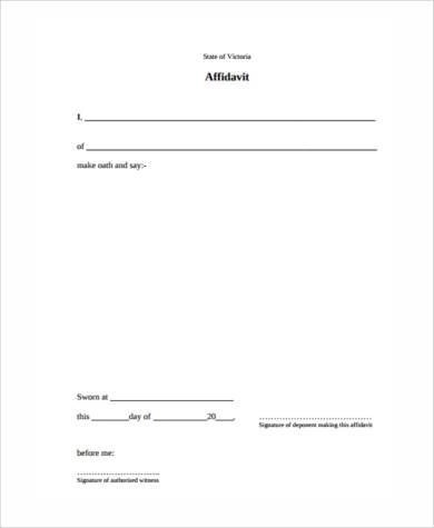 7+ Sworn Affidavit Form Samples - Free Sample, Example Format Download