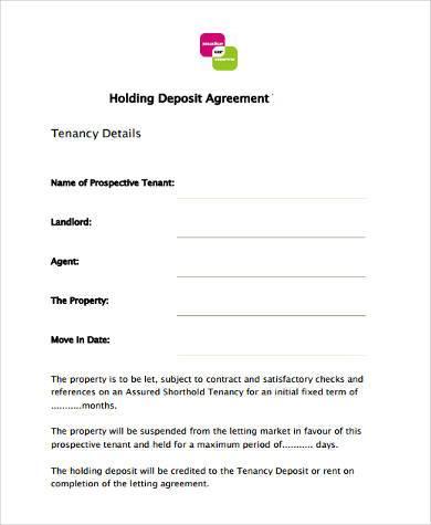 Sample Tenancy Deposit Forms - 9+ Free Documents in Word, PDF