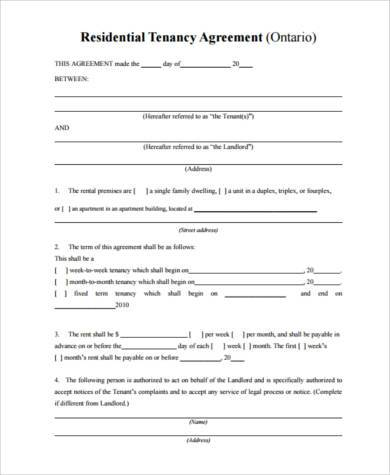 Tenant Agreement Form Samples - 8+ Free Documents in PDF - sample tenancy agreement